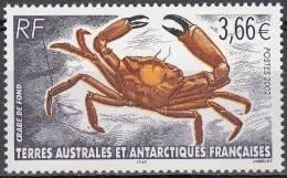 TAAF 2002 Yvert 335 Neuf ** Cote (2015) 14.50 Euro Crabe De Fond - Ungebraucht