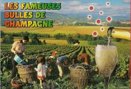 51 -  Carte à Trou, Les Fameuses Bulles De Champagne - Frankrijk