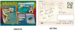 AO – CARTOLINA SALENTO SPECCHIULA, S.ANDREA, COSTA OTRANTO, ALIMINI VIAGGIATA 11/08/1996 INDIRIZZO OSCURATO PER PRIVACY - Italia