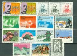 Italia  1972 - Yv  1091/1098**, 1101/1106**, 1109/1110**,   MNH  Cat. € 5,10 - 6. 1946-.. República