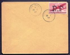 RARE LETTRE GUERRE 1939-45- 6ct AÉRIEN USA  SURCHARGE RF- ALGER N° 1- CAD POSTE NAVALE 1944- COTE 625 E - 2 SCANS - Poststempel (Briefe)