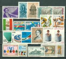 Italia  1971 - Yv  1067/1071**, 1075/1087**, 1088/1090*,   MNH / MH Cat. € 6,20 - 6. 1946-.. República