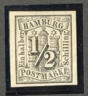GS-958  Hamburg 1859  Michel #1  (*)  Scott #1 ~ Offers Welcome! ~ - Hamburg