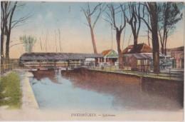 Cpa,1929,allemagne,rhénan Ie  Palatinat,ZWEIBRUCKEN,deux  Ponts,SCHLEUSE,carte En Couleur - Zweibruecken