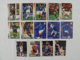 C26 SPORT CALCIATORI E CALCIO BASKET NBA LOTTO 14 CARDS - Cartes Cadeaux