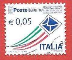 ITALIA REPUBBLICA USATO - 2010 - Posta Italiana - Prioritaria - Ordinaria - € 0,05 - S. 3180 - 6. 1946-.. Republic