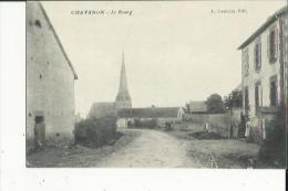 Chavanon  03    Le Bourg -l'Eglise Et La Rue Animée - France