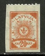 LETTLAND Latvia 1919 - 20 Kap Einzeitig (oben) Perforiert * - Latvia