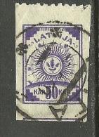 LETTLAND Latvia Latvija 1919 - Freimarke 50 Kap Einzeitig (oben) Perforiert O - Latvia