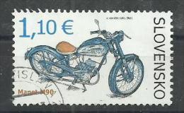 SLOVAKIA 2014 - MOTOCYCLE MANET M90 - USED OBLITERE GESTEMPELT USADO - Slowakije