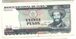 Cuba 20 Pesos 1991 - Cuba