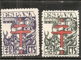 España/Spain-(MH/*) - Edifil  949-51 - Yvert 709-10, Aéreo-224 - 1931-50 Nuovi