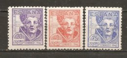España/Spain-(MH/*) - Edifil  954-56 - Yvert 712-14 - 1931-50 Neufs