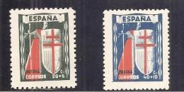 España/Spain-(MH/*) - Edifil  971-73 - Yvert 728-29, Aéreo-226 - 1931-50 Nuevos & Fijasellos