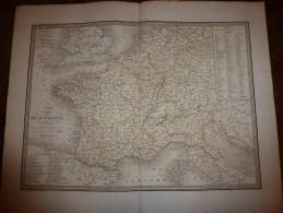 1830 Carte Comparée FRANCE 1789-1813 Dressée Par Lapie 1er Géographe Du Roi,gravure Lallemand ,Chez Eymery Fruger & Cie - Geographical Maps