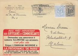 Belgien 1959 - 1,50 Fr Ganzsache + 50 C Zusatz Auf Werbepostkarte - Werbung