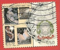 ITALIA REPUBBLICA USATO - 2013 - 50º Anniversario Della Morte Di Paolo Paschetto - € 0,70 - S. 3380 - 6. 1946-.. Republic