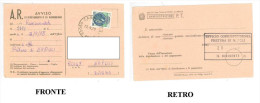 GD – AVVISO DI RICEVIMENTO O DI RISCOSSIONE  RACCOMANDATA 13 SETTEMBRE 1978 PRETURA DI NAPOLI DIMENSIONI CM 8,5x13,9 CON - Vecchi Documenti