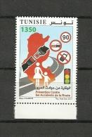 2013-Tunisia-Tunisie -Prevention Of Road Accident- Prévention Contre Les Accidents De La Route MNH/1V Complete Set MNH - Tunisia