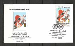 2013-Tunisia-Tunisie-Prevention Of Road Accident- Prévention Contre Les Accidents De La Route/FDC - Tunisia