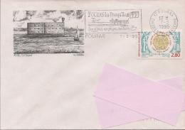 17 -  Flamme De FOURRAS Sur Enveloppe Illustrée De FORT BOYARD, Timbre Grande Loge De France - 1961-....