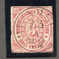 GS-1076  North Ger. Confed. 1868  Michel #9  (o)  Scott #9  ~ Offers Welcome! ~ - Conf. De Alemania Del Norte