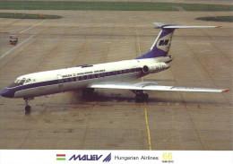 AIRPLANE AEROPLANE AIRCRAFT TUPOLEV TU-134 HUNGARIAN AIRLINES MALEV LONDON ENGLAND UNITED KINGDOM Reg Volt 0148 Hungary - 1946-....: Moderne
