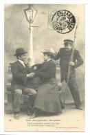 Cp, Couple, Une Désagréable Surprise, Voyagée 1905 - Couples