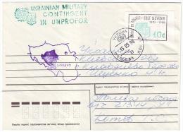 1996. UKRAINIAN MILITARY CONTINGENT UNPROFOR IN BOSNIA. Letter Franking By Provisory Stamp 10 Cents - Ukraine