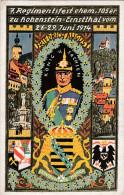 1914 D. Reich, MILITARIA, BESSERE Karte, Regimentsfest der 105er, Hohenstein-Ernsttal. MK
