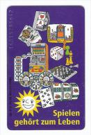 Chess Schach Ajedrez Echecs Casino Phonecard Germany - Jeux