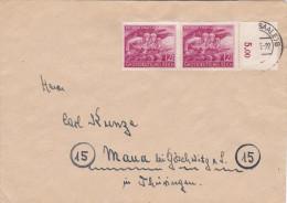 1945 D. Reich, BESSERE MeF. (RAND) Halle/Maua. MK - Lettere
