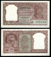 India 2 Rupee Note P-30 UNC With Original Staple Holes NICE - India
