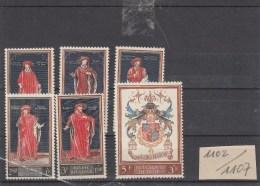 Nr. 1102 / 1107 Postfris - Bélgica