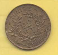 TUNEZ - PROTECTORADO FRANCES -  2 Francs 1945 KM248 - Túnez