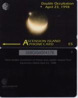 ASCENSION ISLAND PHONECARD(GPT) SOLAR ECLIPSE ,268CASA- 5000pcs-1/98-USED
