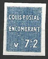ALGERIE COLIS POST / YVERT N� 97 / MAURY 111 NON DENTELE NEUF** TB SANS  CHARNIERE / MNH / 2SCANS