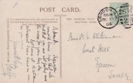 POSTAL HISTORY - LONDON  1905  DUPLEX CANCELLATION - Storia Postale