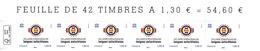 France 2019** Timbres Service UNESCO Année Internationale Des Langues Autochtones ( Bande De 6 ) - Neufs