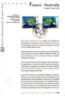 """★ Notice Officielle 1er Jour De 2002 """" FRANCE AUSTRALIE """" N° YT 3476 3477. Parfait état. - Emissions Communes"""