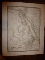 1829 Carte EGYPTE,NUBIE,ABISSINIE Et Partie ARABIE Par Lapie Géographe Du Roi,grav.Lallemand,Chez Eymery Fruger & Cie - Geographical Maps