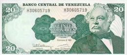 Venezuela 20 Bolivares 1992 Pick 63d UNC - Venezuela