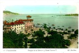 Autres; Fuenterrabia . Parque De La Marina Y Hotel Carlos V. - Autres