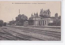 Carte 1904 CONDE SUR HUISNE / LA GARE - VUE INTERIEURE - Frankreich