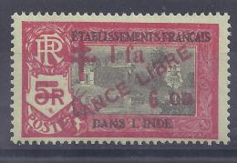 Inde - N° 212  Neuf * - France Libre - India (1892-1954)