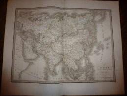 1830 Carte De L' ASIE, Par Lapie 1er Géographe Du Roi, Gravure Lallemand,Chez Eymery Fruger & Cie - Geographical Maps