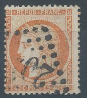 Lot N°27739     Variété/n°38, Oblit GC, Filet NORD, Piquage - 1870 Siege Of Paris