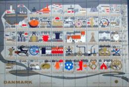 Denmark Christmas Seal 1962 MNH ( **)  Full Sheet  City Scenes - Full Sheets & Multiples