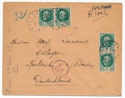 Enveloppe - Affranchissement Composé Pétain 2F X4 - Recommandé Provisoire Epernay (Marne) 1943 - Vers STO - 1941-42 Pétain