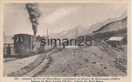 CHEMIN DE FER DU MONT-BLANC - N° 609 - CONDUISANT AU GLACIER DE BIONNASSAY - STATION DU MONT LACHAT - Gares - Avec Trains
